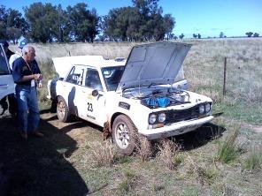 Car 23 - 2 km into SS2 Engine problem