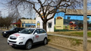 Lunch at Eugowra - some impressive murals. — in Eugowra, New South Wales.