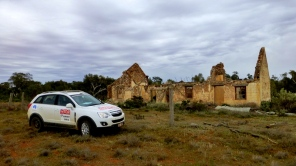 The route runs past an amazing ruin on Farmcote - this is an abandoned hotel at The Springs, an old stage coach stop. We stopped for a beer, but the pub was delicensed in 1893.