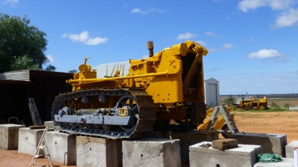 Joe at Belvedere is restoring an old dozer. We have a great 18 k stage on his station.