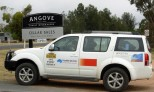 Nissan Pathfinder, 2012 Classic Outback Trial, at Angove Winery in Renmark
