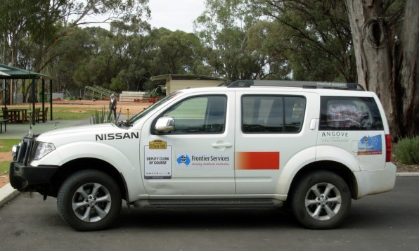 Nissan Pathfinder on the 2012 Classic Outback Trial.