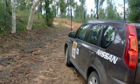 Picture of a Nissan X-Trail during an event survey on the 2009 COT.