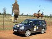 "Nissan X-Trail during an event survey on the 2009 COT. This is at ""Utes in the Paddock"" in Ootha, NSW."