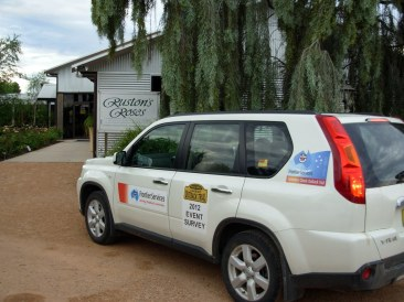 Nissan X-Trail, at Ruston's Roses in Renmark during an event survey for the 2012 COT.