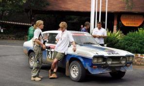 The Rayners ran the Capri in the East African Safari.