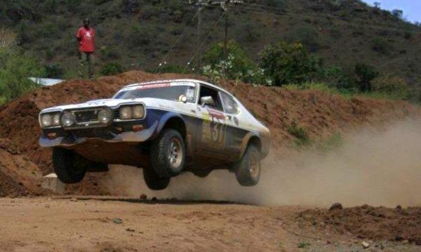 Ford Capri off the ground