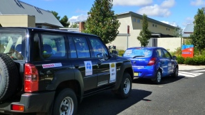 The Nissan Fleet survey Patrol at the Henry Parkes Centre - home of Parkes Tourism.