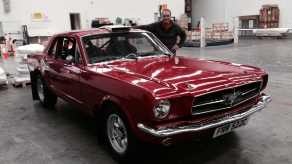 Warren Briggs, with his 1965 Ford Mustang Coupe.