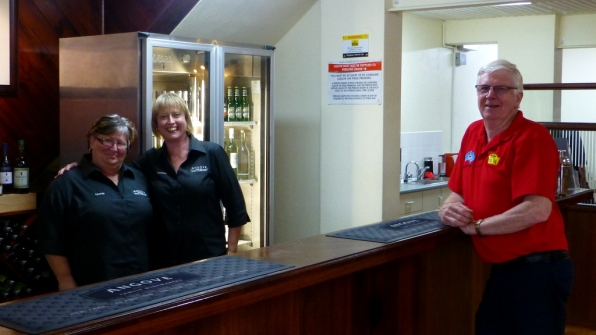 Leonie and Loraine with Philip at Angove Family Winemakers, sorting arrangements for the end of the 2014 COT.