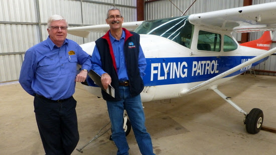 COT Director Philip Bernadou and Pastor David Shrimpton, the Flying Padre.