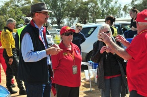 The Flying Padre, Pastor David Shrimpton, at Menindee