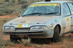 Matt Swan and Paul Franklin in second place into Silverton
