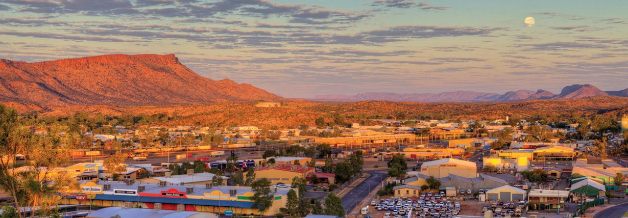 Alice Springs aerial view