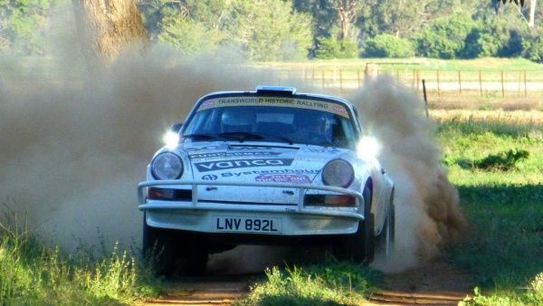 One of the Tuthill Porsches competing in the Sydney to London Classic Marathon