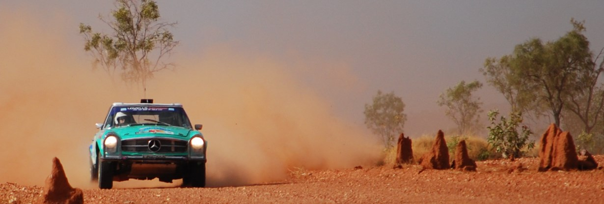 Mercedes Benz, rallying in the Red Centre