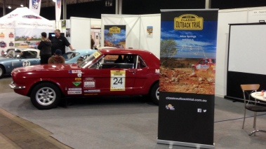Warren Briggs' Mustang on the COT stand at Race Retro