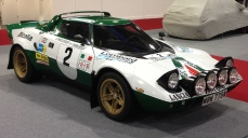 A Lancia Stratos rally car at Race Retro...