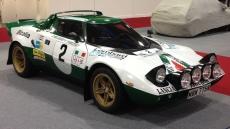 A Lancia Stratos rally car at Race Retro...