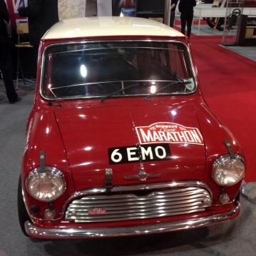 A Mini rally car at Race Retro...