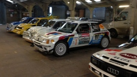 A line of group B rally cars