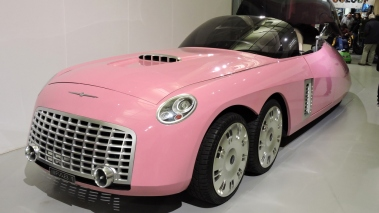 Lady Penelope's car from the Thunderbirds movie at the Heritage Motor Centre, in Gaydon.