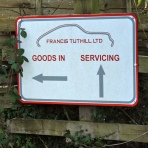Sign at Tuthill Porsche