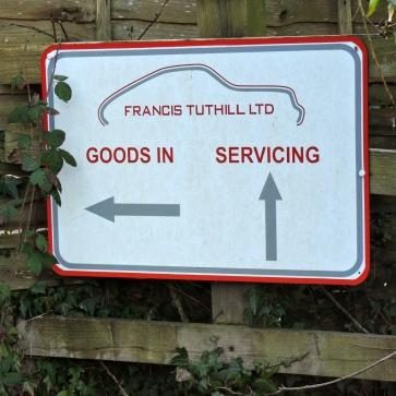 Sign at Tuthill Porsche