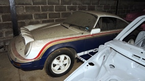 Dusty Porsche stored at Tuthill Porsche