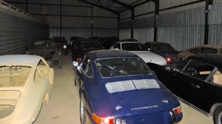 A shed full of Porsches at Tuthill Porshe