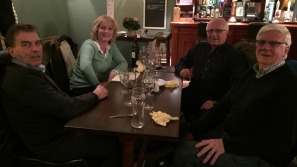 David and Sarah Rayner, competitors in the 2014 COT, with Ian and Philip