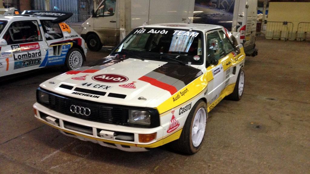 Audi Quattro rally car...