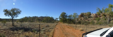 Pic of an outback track, south of Alice Springs