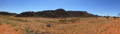 A range south of Alice Springs - pic taken from a sand dune.