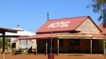 "Pic of ""The Junction Hotel"", which is part of an abandoned movie set near Alice Springs."