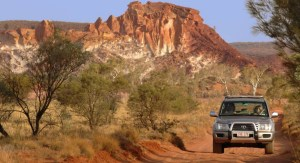 4WD vehicle on a track in the MacDonnell Ranges