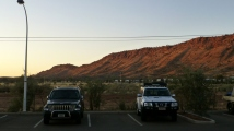 The view of the East MacDonnell Ranges from Lasseters.