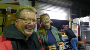 Chris and Debra at the Central Australian Rally Sport Club.