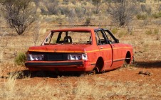Pic of an abandoned Nissan Bluebird.