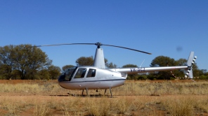 Picture of a Robinson helicopter