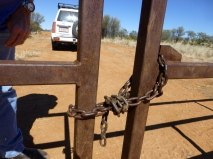 A chained up gate