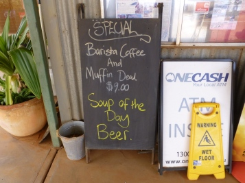 "Sign ""Soup of the Day - Beer"""