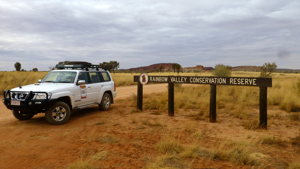 Survey car at Rainbow Valley