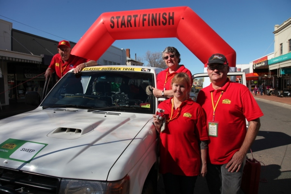 The sweep was last out of Parkes on COT 2014 - L2R: Jim, Margaret, Jenny and Alex.