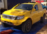 A yellow Ford Ranger