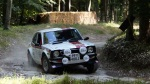 John Midgley on the Goodwood rally stage in one of his classic Toyotas