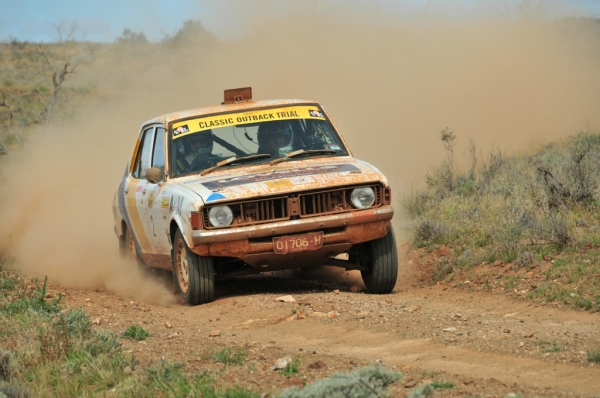Pushing hard on COT2014, near Broken Hill.