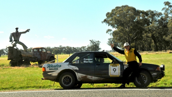 John obviously enjoyed the COT 2014 prologue - this was taken on the way back into Parkes.