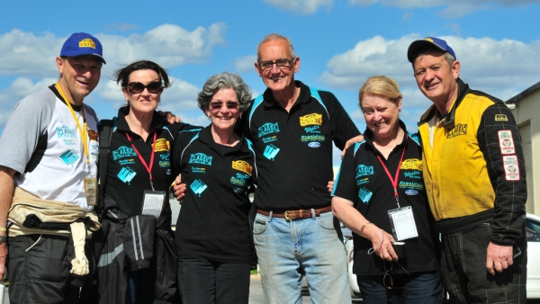 The Classic Rally CLub team at the end of COT 2014.