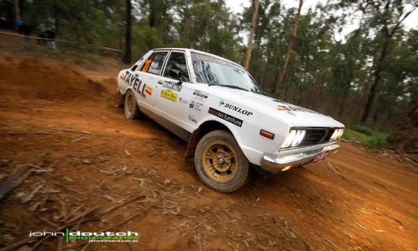 Joel in action on the East Gippsland Stages. John Doutch pic.